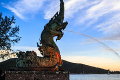 Phaya Naga statua Zdjęcia Stock