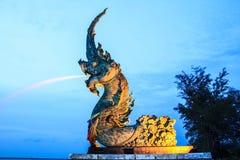 Phaya Naga statue Stock Image