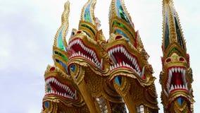 Phaya Naga tajlandzki styl kolorowego i pięknego Obraz Royalty Free