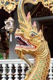 Phaya-Nagaschlange bei Wat Pra Singh, Chiang Mai, Thailand Lizenzfreie Stockbilder