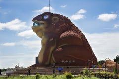 Phaya parkerar solbränt offentligt och det Phayakunkak museet i Yasothon, Thailand Royaltyfri Bild