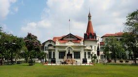 Phaya thailändsk slott i det Ratchathewi området av thailändsk huvudstad Bangkok Arkivfoton