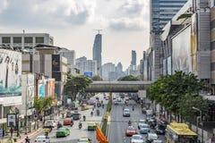 Phaya thailändsk väg i Bangkok Arkivbild