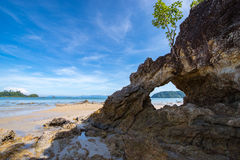 Phayam Arch Low tide Stock Photo