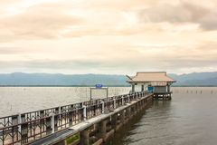 phayao lake at phayao thailand stock photography