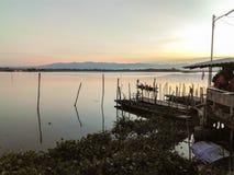 Phayao sjö i Thailand Arkivbild