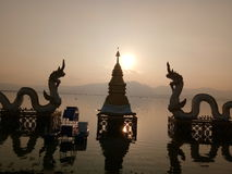 Phayao solnedgång Arkivfoton