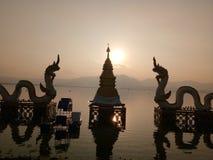 Phayao sunset Stock Photos