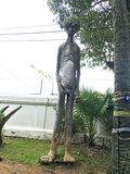 Phayao THAILAND - July 28 Ghost in Thai belief is ghost, long neck, large belly, tall.  stock photography