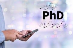 PhD哲学博士程度教育毕业 免版税库存照片