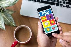 PhD Doctor of Philosophy Degree Education Graduation Royalty Free Stock Image