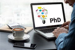 PhD Doctor of Philosophy Degree Education Graduation Royalty Free Stock Photos