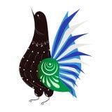 Pheasant. Bird in the Russian style stock illustration