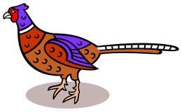 Pheasant. Cartoon illustration of a pheasant Royalty Free Stock Image