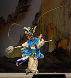 """The pheasant tail- Beijing Opera"""" Women Generals of Yang Family"""". This opera tells a patriotic story how does an old woman of a hundred years old go Stock Image"""