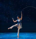 Pheasant Tail-Chinese folk dance Royalty Free Stock Photos