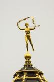 Pheme雕象在布鲁塞尔大广场,布鲁塞尔,比利时 免版税库存照片