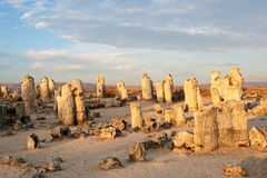 Phenomenon rock formations. Upright stone. Phenomenon rock formations in Bulgaria around Varna - Pobiti kamani. National tourism place. Upright stone. Earth Royalty Free Stock Image