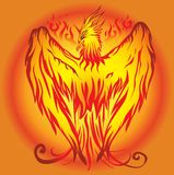 Pheonix Vector art. Vector design pheonix fire hot art floral design black eye graphice Line art for Sticker cut Royalty Free Stock Photos