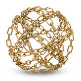 Phere Made From Golden Chains Royalty Free Stock Photo