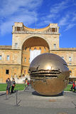 Phere within sphere sculpture in Courtyard of the Pinecone at Vatican Museums Stock Photos