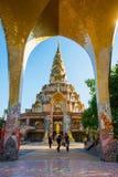 Phetchabun,泰国- 2016年11月27日:美丽的马赛克装饰 免版税库存图片
