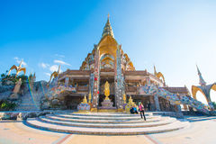 Phetchabun,泰国- 2016年11月27日:美丽的马赛克装饰 库存照片