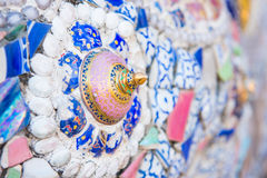 Phetchabun,泰国- 2016年11月27日:美丽的马赛克装饰 库存图片