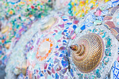 Phetchabun Tajlandia, Listopad, - 27, 2016: Piękny mozaika wystrój Obraz Royalty Free