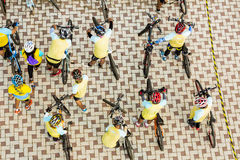 PHETCHABUN THAILAND - DECEMBER 11, 2015: Cykel för konungen Arkivfoto