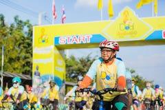 PHETCHABUN THAILAND - DECEMBER 11, 2015: Cykel för konungen Royaltyfria Foton