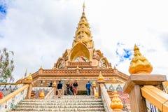 PHETCHABUN THAILAND - JANUARI 3, 2017: Phrathat phasornkaew Royaltyfri Bild