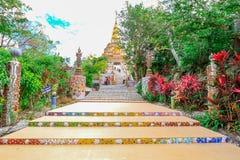 PHETCHABUN THAILAND - JANUARI 3, 2017: Phrathat phasornkaew Royaltyfria Foton