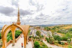 PHETCHABUN THAILAND - JANUARI 3, 2017: Wat phasornkaew är en Royaltyfria Foton