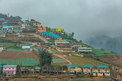 Phetchabun,Thailand-January 2,2019:Accommodation on many hills,prepare tourists to experience the cold weather in Phu Thap Boek stock photos