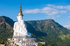 Phetchabun, Thailand - November 27, 2016 :Beautiful White Big Bu. Ddha statue on Khao Kho mountain at Wat Pha Sorn Kaew temple, Phetchabun, Thailand stock photos