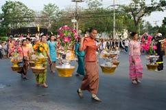 Phranakhonkhiri在街道的节日游行2013年 免版税图库摄影