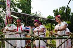 Phranakhonkhiri在街道的节日游行2013年 库存图片