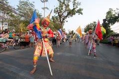 Phranakhonkhiri在街道的节日游行2013年 图库摄影