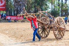 PHETCHABURI - FEBRUARI 22: tävlings- festival för 143. ko Royaltyfria Foton