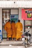 Phetchaburi munkar Arkivfoto