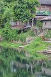 Phetchaburi River Shacks Royalty Free Stock Photos