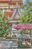 Phetchaburi-Straßenhändler Painting Lizenzfreies Stockfoto