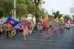Phranakhonkhiri Festivalparade 2013 auf Straße Stockbild