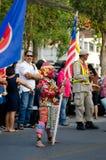 Phranakhonkhiri Festivalparade 2013 auf Straße Lizenzfreies Stockfoto
