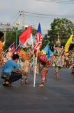 Phranakhonkhiri Festivalparade 2013 auf Straße Lizenzfreies Stockbild