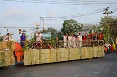 Phranakhonkhiri Festivalparade 2013 auf Straße Stockfotografie