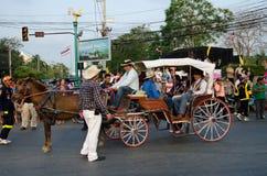 Phranakhonkhiri Festivalparade 2013 auf Straße Lizenzfreie Stockbilder