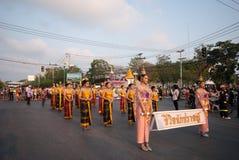 Phranakhonkhiri Festivalparade 2013 auf Straße Stockbilder