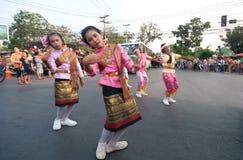 Phranakhonkhiri Festivalparade 2013 auf Straße Lizenzfreie Stockfotos